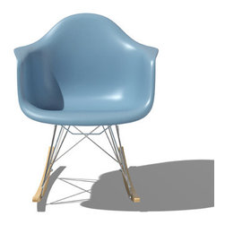 Eames Molded PLastic Rocker by Herman Miller - One of the most iconic pieces of mid-century modern furniture, the Eames Molded Plastic Rocker by Herman Miller is as cool today as what is was when it was first introduced in 1948.