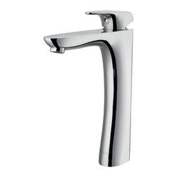 """Vigo - Vigo 7 5/8 Erasma Vessel Faucet, Chrome (VG03019CH) - Vigo VG03019CH 7 5/8"""" Erasma Vessel Faucet, Chrome"""
