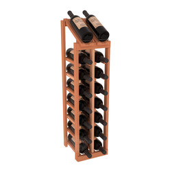 Wine Racks America - 2 Column 8 Row Display Top Kit in Redwood, (Unstained) - Display your best vintage while efficiently storing 16 wine bottles. This slim design is a perfect fit for almost any space. Our wine cellar kits are constructed to industry-leading standards. Display top wine racks are perfect for commercial or residential environments.