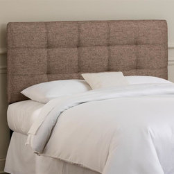 Skyline Furniture - Tufted Headboard w Foam Padding in Groupie Pr - Choose Size: QueenAdjustable legs. Plush foam padding. Attaches to standard bed frames. Made from 65% polyester and 35% viscose. Made in the USA. Minimal assembly required. Twin: 41 in. L x 4 in. W x 51 in. H (24 lbs.). Full: 56 in. L x 4 in. W x 51 in. H (31 lbs.). Queen: 62 in. L x 4 in. W x 51 in. H (33 lbs.). King: 78 in. L x 4 in. W x 51 in. H (45 lbs.). California king: 74 in. L x 4 in. W x 51 in. H (40 lbs.)Modern hand-tufted headboard in a metallic linen upholstery