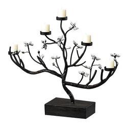 Sterling Industries - Sterling Industries 51-10072 Metal Flower Ta Light Holder - Specifications: