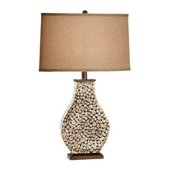 Murray Feiss 1-Bulb Architectural Brown Lamp