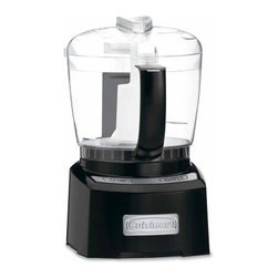 Cuisinart CH-4BK Elite Collection 4-cup Chopper & Grinder - Black - About CuisinartOne of the most recognized names in cookware and kitchen products, Cuisinart first became popular when introduced to the public by culinary experts Julia Child and James Beard. In 1973, the Cuisinart food processor revolutionized the way we create fine food and healthy dishes, and since that time Cuisinart has continued its path of innovation. Under management by the Conair Corporation since 1989, Cuisinart is a universally celebrated name in kitchens across the globe. With a full-service product line including bakeware, blenders, coffeemakers, cookware, countertop appliances, kitchen tools, and much, much more, Cuisinart products are preferred by chefs and loved by consumers for durability, ease of use, superior quality, and style.