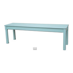 Tradewinds - Coastal Plank Queen Bench, Grey - Make this cottage plank queen bench a part of your garden area to enjoy some relaxing time while sitting on it. Besides, this slatted bench comes with lower shelf to provide ample storage space. Quality hardwoods are used to make this hand painted furniture piece to offer durable performance.