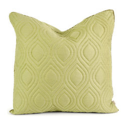 IMAX - IK Kavita Green Linen Quilted Pillow w/ Down Fill - - Iffat Khan has developed a luxurious collection of down pillows with quilted details and top of the line fabrics. Iffat?s refined aesthetic is evident in her collection which combines clean modern, classic casual and timeless traditional styles  - Materials: 100% Linen (185 GSM)  - Country of Orgin: China IMAX - 42157