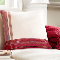 Noah Stripe Pillow Cover - I love the uniqueness of this striped pillow.