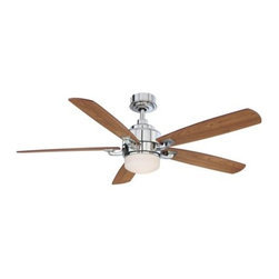 Fanimation - Fanimation Benito Ceiling Fan in Polished Nickel - Fanimation Benito Model FP8003PN in Polished Nickel with Reversible Cherry/Walnut Finished Blades.