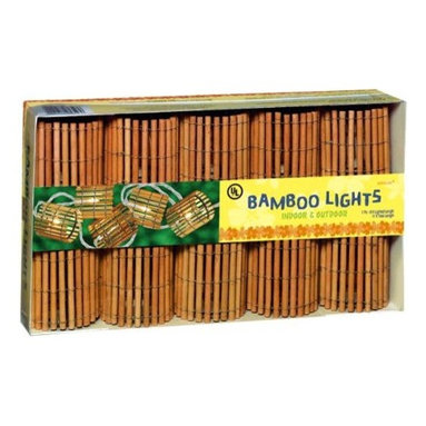 Grasslands Road - Grasslands Road Tiki Bamboo Barrel Patio Light Set, 9-Foot - Grasslands Road Tiki Bamboo Barrel Patio Light Set, 9-Foot Indoor/outdoor use 9-foot lighted length, 11-foot total length Great for kids rooms and parties End to end plugs See our matching light setsGo tiki with your party lighting. Bamboo Barrel Electric Light Set features a 120V AC string of 10 steady burn mini lights with plastic thatched covers. End-to-end plus accommodate multiple strands of lights (other light sets sold separately) plus 4 extra bulbs included. UL approved for indoor/outdoor use. Light set measures 11-feet long with 9-feet total lighted length. Product Measures: 6.8 by 12.3 by 2.7 IN