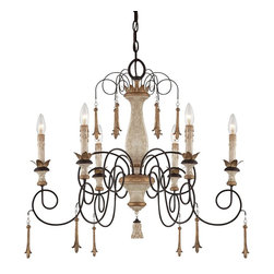 "Jessica McClintock - Traditional Jessica McClintock Provence 29"" Wide Chandelier - Add a chandelier look that's pure romance with this delightful design by Jessica McClintok. Chandeliers like this make a wonderful accent in dining rooms hallways and more. This one features six lights and a lavish scroll arm frame. It comes in a Provence patina finish with bronze finish accents. Takes six 60 watt candelabra bulbs (not included). 29"" wide. 26 1/2"" high.  A Jessica McClintock chandelier design.  From the Accents Provence collection.  By Mink Lighting.  Provence patina finish.  Bronze finish accents.  Takes six 60 watt candelabra bulbs (not included).   29"" wide.   26 1/2"" high."