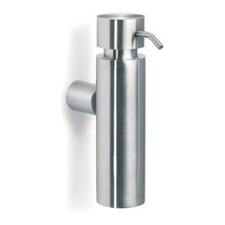 Blomus - DUO Wall Mounted Soap Dispenser, Matte - This refined DUO Wall Mounted Soap Dispenser will have you admiring the wall every time you wash your hands. The heavy-duty stainless steel design mounts to your wall with is matching mounting kit, and the removable lid makes for easy, quick refilling.