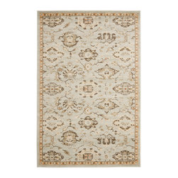 Safavieh - Azalea Florenteen, Grey / Ivory 2' X 3' - The Florenteen collection by Safavieh runs the gamut from classic Persian carpet designs to motifs inspired by European tapestries. Every power-loomed Florenteen rug is created with impeccable attention to detail using polypropylene yarns in updatedpastel and neutral palettes.  Elegant and easy-care, these beautiful rugs are crafted to endure heavy traffic.