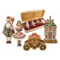 "Nutcracker Ornament Artistic Wood Carved Sculpture - Measures 5""H x 15.5""L x 7""W and weighs 3 lbs. G. DeBrekht fine art traditional, vintage style sculpted figures are delightful and imaginative. Each figurine is artistically hand-painted with detailed scenes including classic Christmas art, winter wonderlands and the true meaning of Christmas, nativity art. In the spirit of giving G.DeBrekht holiday decor makes beautiful collectible Christmas and holiday gifts to share with loved ones. Every G. DeBrekht holiday decoration is an original work of art sure to be cherished as a family tradition and treasured by future generations. Some items may have slight variations of the decoration on the decor due to the hand painted nature of the product. Decorating your home for Christmas is a special time for families. With G. DeBrekht holiday home decor and decorations you can choose your style and create a true holiday gallery of art for your family to enjoy."