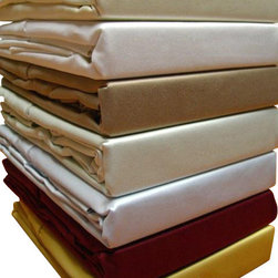 """Bed Linens - 600TC Solid Sheet Set, 100% Egyptian cotton Queen Taupe - 600 thread count single ply *100% Egyptian cotton, Sateen Weave. *Fitted sheet has a 16"""" pocket to fit up to 18"""" mattress *Machine wash *Colors: White Ivory Taupe Sage Blue Gold Burgundy *"""