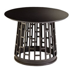 Contemporary Round Steel Foyer Table - *Paulo Foyer Table