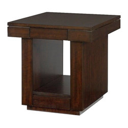 Hammary - Hammary Uptown Drawer End Table in Mocha - Drawer end table in mocha belongs to Uptown collection by Hammary