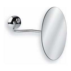"WS Bath Collections - Mirror Pure 7"" Mevedo Wall Mount Make Up Magnifying Mirror in Polished Chrome - Collection Mirror pure by WS Bath collections; fine, unique, and innovative, make-up and shaving mirrors, made to the highest standards of stainless steel and high-quality materials, long lasting construction, in perfect crafted workmanship. Enjoy yourself with mirror pure Features: -Magnifying glass. -Mirror Pure collection. -Polished chrome finish. -Chrome construction. -Wall mount. -Flexible arm. -Made in Italy. Specifications: -Manufacturer provides One Year warranty against defects in workmanship, materials, or operation, excluding ordinary wear and tear. -Overall dimensions: 7"" D.-Arm: 11.2""."