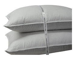 Bed Linens - King size 500 Thread count Firm filled Goose down Pillow (each)King White - This luxurious down pillow will make your bedding far more luxurious and comfortable. An incredible luxury and comfort, filled with a special hand plucked Goose Down. A purified white goose down even sensitive sleepers can enjoy with the most Luxurious 100% Egyptian cotton cover in the industry and a look and feel of elegance. This pillow is over filled with large clusters of bacteria free white Goose Down, 750 Fill Power,28oz firm filling for maximum comfort and pleasant dreams.*Features down-proof cover of 500-thread-count fabric in 100-percent Egyptian cotton* Edged with double silky piping for a clean finish* Firm filled with 32oz of Goose Down for King size* 750 fill power white goose down, softer and lighter than the even the best U.S. down* Dry clean only* King Size: 20 x 36 in., 32 oz. of white goose down.Thread count is the number of threads per square inch of fabric--the higher the thread count, the softer and more durable the material The quality of down is measured by its fill power--the higher the fill power, the lighter, fluffier, and warmer the down Dimensions and fill weight.