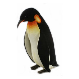 Hansa Portraits in Nature Realistic Stuffed Animals - If you love Penguins, this Hansa Toys life-size penguin is for you! Hansa Penguin is made from black and white plush with black eyes. Hansa Penguin stands on his two grey feet. Airbrushed kneck, beak and body for detail.