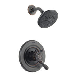 Delta - Delta T17278-RB Leland Monitor 17 Series Shower Trim (Venetian Bronze) - The Leland collection features a chess-piece like design and modern style, giving your home a beautiful touch.