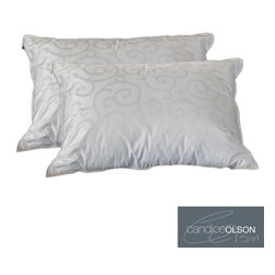 Candice Olson - Candice Olson Down Alternative Pillow with Removable Cover (Set of 2) - Ideal for those who are allergic to down but enjoy the way it feels, these comfortable down alternative pillows from Candice Olson will help you sleep easy. They are filled with a durable down alternative gel fiber for added softness.