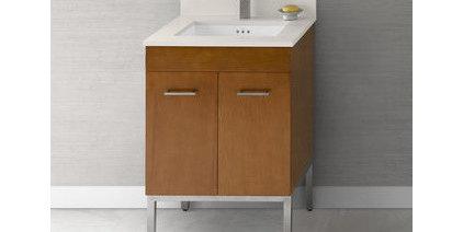 "RonBow 037023-6 Venus 23"" Wood Vanity Cabinet with Two Doors, One Hidden Drawer,"