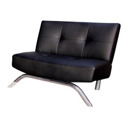 Ameriwood - DHP Revolution Emma Chair in Black - Ameriwood - Accent Chairs - 3321096 - Bring prestige and style home with DHP's Emma Lounge Chair. This chair is strong wide and deep and set low to the ground for the utmost stability. Its faux leather material is sleek and cool and resists staining making this chair the perfect accent piece. Designed to complement the Emma Revolution Convertible Sleeper.
