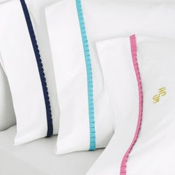 Lilly Pulitzer Ruffle Me Percale Pillowcase - Need to add a little something to your bed without overdoing it? A brightly colored pillowcase or a delicate detailed flange can help transform your bedding.