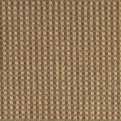 Green, Beige and Red, Check Southwest Style Upholstery Fabric By The Yard - This southwest chenille upholstery fabric is great for all indoor upholstery applications. This material is uniquely soft, durable and made in America! Any piece of furniture will look great upholstered in this material.