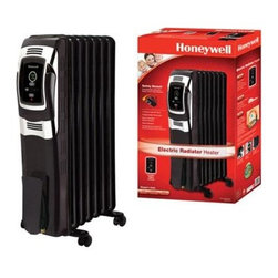 Kaz Inc - Honeywell Digital Oil Filled Radiator Black - KAZ Electric Oil Filled Radiator Digital Heater - Black.