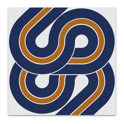 """Graphilia - """"""""Snake"""" by Victor Langer 1975 Original Vintage Serigraph -Blue - Original 1975 serigraph by Victor Langer."""