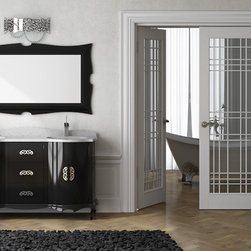 "Macral Venezia double sink vanity 64"" 5/8 black gloss. Complete set. - 1. Macral Venezia vanity set 64"" 5/8."