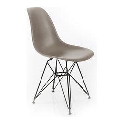 American Atelier - Elegant Banks Chair, Dark Gray - Elegant Banks Chair