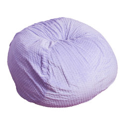 Great Deal Furniture - Luna Suede Fabric Bean Bag - The comfort of these soft, cushioned beanbags are only matched by our Eco-friendly recycled foam filled interior. A full-sized adult or a child can relax on these faux suede microfiber beanbags while still being elevated above the floor. Made in the USA, the seams are double-stitched preventing any leaks.