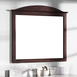 """34"""" Benalla Mahogany Vanity Mirror - Crafted of rich, reddish-brown mahogany, the 34"""" Benalla Vanity Mirror features a lovely rounded top above its decorative ledge."""