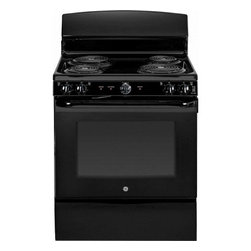 "GE - JB450DFBB 30"" 5.0 cu. ft. Oven Capacity Free-Standing Electric Range  Upfront Co - A GE electric range will meet all your cooking needs for years to come from warming a simple pan of soup for one person to handling a large dinner party or holiday meal for the whole family Plus your stove will look great in your kitchen and clean up..."