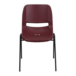 Flash Furniture - Flash Furniture Stack Chairs Plastic Stack Chairs X-GG-YB-1OE-TUR - We consider this student stack chair to be the premier stack chair - essential for every school and classroom setting. This ergonomic stack chair provides a body molded, high impact plastic shell set upon a heavy gauge steel frame. The comfort-formed back and contoured seat with waterfall front will give you complete comfort and lasting durability. [RUT-EO1-BY-GG]