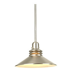 Contemporary Brushed Nickel  Mini-Pendant Chandelier