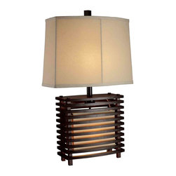 Dimond Lighting - Dimond Lighting D1419 Burns Valley Espresso Wood Table Lamp - Dimond Lighting D1419 Burns Valley Espresso Wood Contemporary Table Lamp