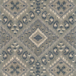 """Loloi - Loloi Leyda LY-07 (Grey, Denim) 3'6"""" x 5'6"""" Rug - The new Leyda Collection features seven updated Ikat designs that will soften the look of any room. Hand-tufted in India of 100-percent wool, the rugs come in striking, up-to-date blue, ivory/multi, black/light gold, red/multi, midnight, cream/gray, ivory, light gold and gray/denim."""