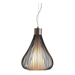 ZUO PURE - Interstellar Ceiling Lamp Black - The contrast between frosted glass and metal wire with a splash of chrome all comes together in harmony with the Interstellar ceiling lamp. It is UL approved. The height is fully adjustable.