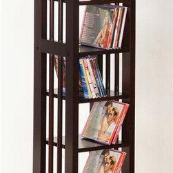 Asia Direct Home - CD/DVD Storage Rack in Espresso Finish - Includes one rack. Espresso finish CD/DVD rack. Easy assembly required. Dimensions: 9.88 in. W x 9.88 in. D x 33.5 in. H