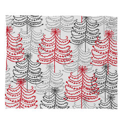DENY Designs - DENY Designs Rachael Taylor Doodle Trees Fleece Throw Blanket - This DENY fleece throw blanket may be the softest blanket ever! And we're not being overly dramatic here. In addition to being incredibly snuggly with it's plush fleece material, you can also add a photo or select a piece of artwork from the DENY Art Gallery, making it completely custom and one-of-a-kind! And when you've used it so much that it's time for a wash, no big deal, as it's machine washable with no image fading. Plus, it comes in three different sizes: 80x60 (big enough for two), 60x50 (the fan favorite) and the 40x30. With all of these great features, we've found the perfect fleece blanket and an original gift!
