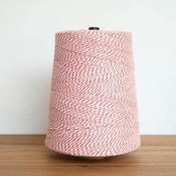 Baker's Twine Cone - A big cone of baker's twine like this one will last for many holidays to come. I like to wrap it around a gift several times, then end with an extra flourish by slipping on a button or a gift tag.