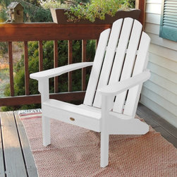 Highwood USA - highwood Classic Westport Adirondack Chair - AD-CLAS1-WHE - Shop for Chairs and Sofas from Hayneedle.com! Perfect for your patio deck porch or the beach the Highwood Classic Westport Adirondack Chair is handmade by Amish craftsmen. This popular Adirondack chair has been improved with hidden hardware for a cleaner look. The durable wood-tone colors look great season after season and need only a simple wash down each spring with warm soapy water. This Adirondack chair is a part of the Highwood Adirondack Collection which features the Hamilton Chair in adult king and child sizes the Classic Westport Adirondack ottoman side table a removable connecting table and an innovative laptop/reading lap desk. It is available in a variety of colors and is weather-resistant. This means it won t crack warp or split.About Highwood Synthetic Wood:Highwood Synthetic Wood is truly Nature's Closest Rival and is the world s most realistic alternative to wood. This unique ultra-low maintenance material has been used extensively for almost 10 years by major theme-parks across the world wherever the look of natural wood (without the maintenance) was needed. While other poly or HDPE materials have a soft waxy and plastic appearance/texture Highwood features premium NatureTEX embossed surfaces that are harder and more appealing to the touch. The rich wood-grain colors some of which feature grain like streaking run to the core of the material and are extremely fade resistant. There is no wood-fiber content in these eco-friendly recyclable products (it is not a composite ) and the material will not absorb moisture. Highwood USA manufactures the material (and the products are hand crafted/assembled) in Pennsylvania providing you with a 100% Made in the USA product that they stand behind with pride. Please note this product does not ship to PennsylvaniaAbout Highwood USAHighwood USA was founded in 2003 with the goal of being the highest-sought choice for premium synthetic products. The company specializes in outdoor structures and furnishings constructed with materials that mimic the look of nature s finest materials and provide years and years of durability with very little maintenance.