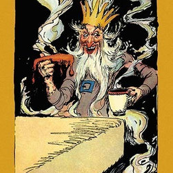 """Buyenlarge.com, Inc. - King Kaliko- Fine Art Giclee Print 16"""" x 24"""" - John Rea Neill (1877 - 1943) was a magazine and children's book illustrator primarily known for illustrating more than forty stories set in the Land of Oz, including L. Frank Baum's, Ruth Plumly Thompson's, and three of his own. His pen-and-ink drawings have become identified almost exclusively with the Oz series."""