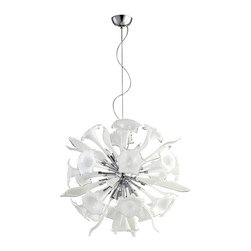 Cyan Design - Cyan Design Remy Pendant (large/small) #05726, #05780, Small - A stunning glass-and-chrome sculpture. This pendant lamp gives brilliant illumination to your entrance hall or large dining room with twelve 100-watt bulbs. Small: 2 ft. 9 in. in diameter.