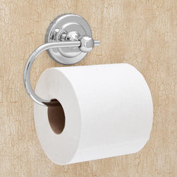 Begonia Euro Toilet Paper Holder - The hooked style of the Begonia Collection Euro Toilet Paper Holder allows you to easily change rolls when one is empty. The solid construction and beautiful finish will ensure the toilet paper holder will last for years to come. Choose from other items in the Begonia Collection to complete the look.