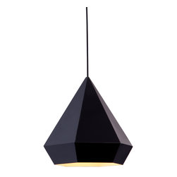 Zuo Modern Contemporary, Inc. - Forecast Ceiling Lamp Black - This light is a hanging toast to geometric elegance. The Forecast Ceiling Lamp is a lovely pendant with sharp angles and soft warmth. Comes in chrome, rose or gold.