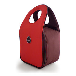 Milkdot - Stöh Lunch Tote, Candy Apple Red - Stöh is a modern yet practical solution for a lunch bag that combines clean and simple design with features perfect for stowing your favorite food, drink and utensils and cool enough for the whole family to carry too. Sleek and timeless, Stöh is for all-ages. Lightweight and folds flat for easy storage after use.