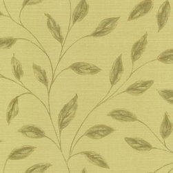 Echo Design - Echo Design Elspeth Wallpaper Sample in Light Brown - The Echo Design wallpaper collection is a beautiful way to bring an organic feel to your decor. This graceful design of a leaf pattern trails over a faux grass cloth texture.